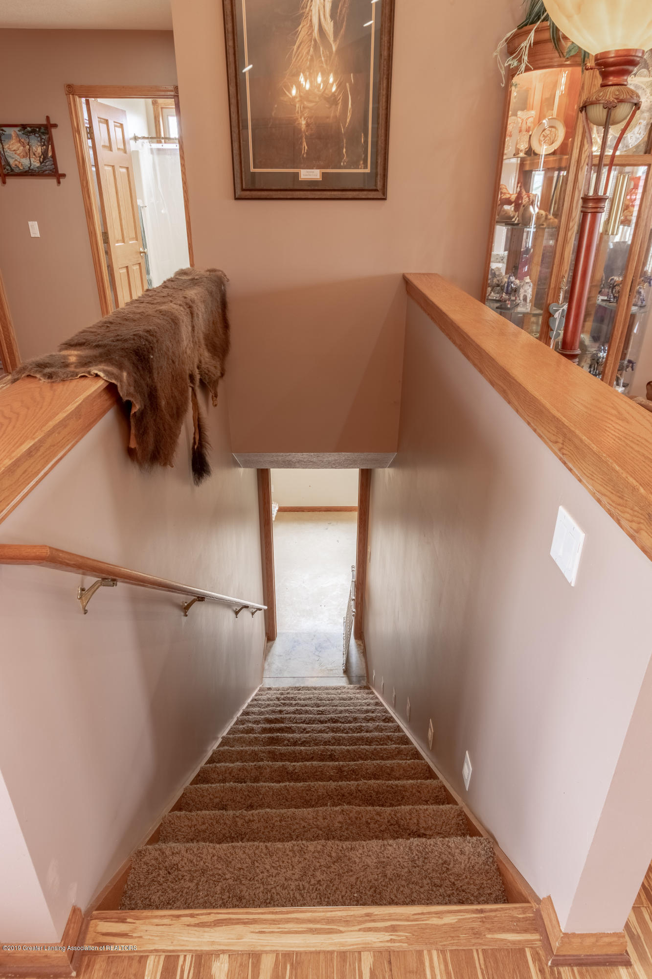 22624 24 Mile Rd - stairs to lower level - 20