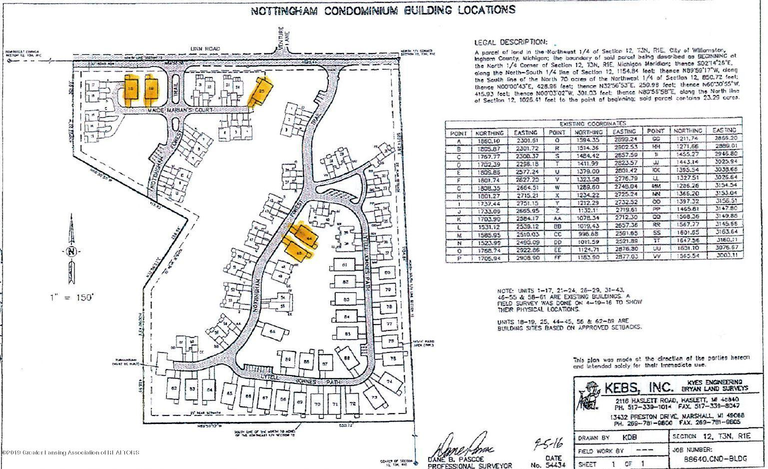 1516 Nottingham Forest - Nottingham Condominium Site Plan - 1