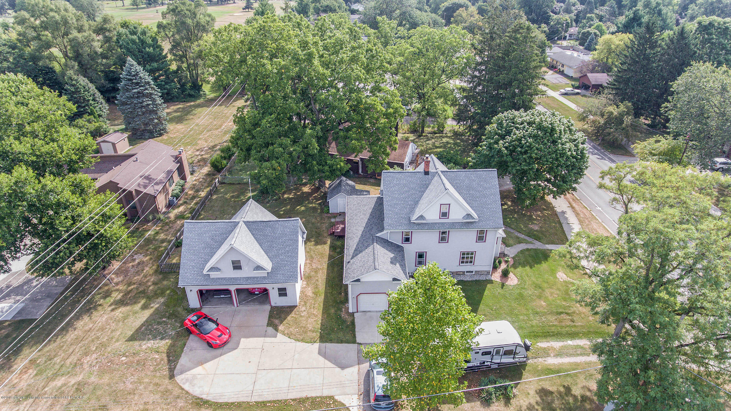 1180 Haslett Rd - Front Aerial - 1