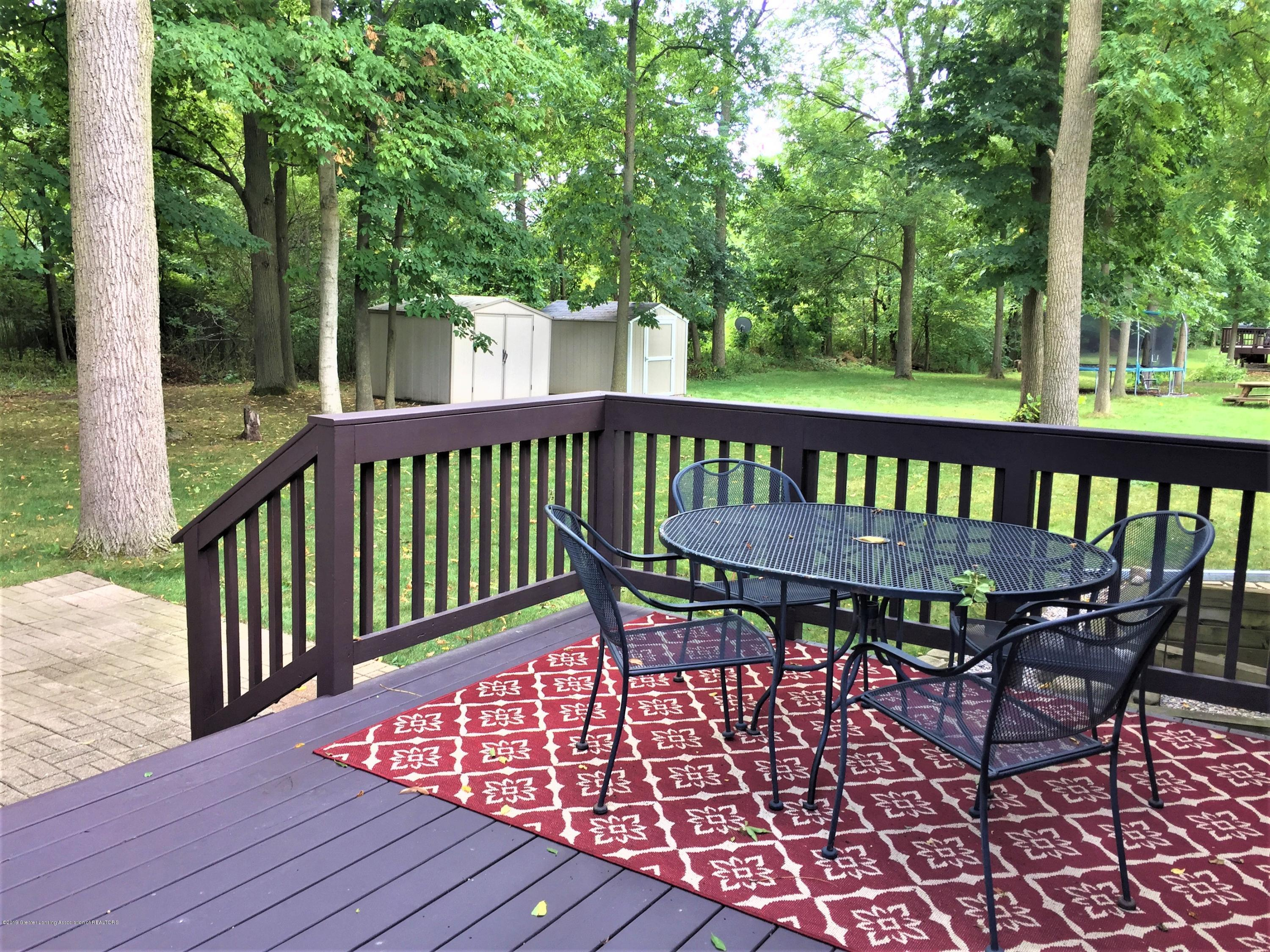 8617 Wheatdale Dr - Back Deck Overlooking Wood Lot/Shed - 62