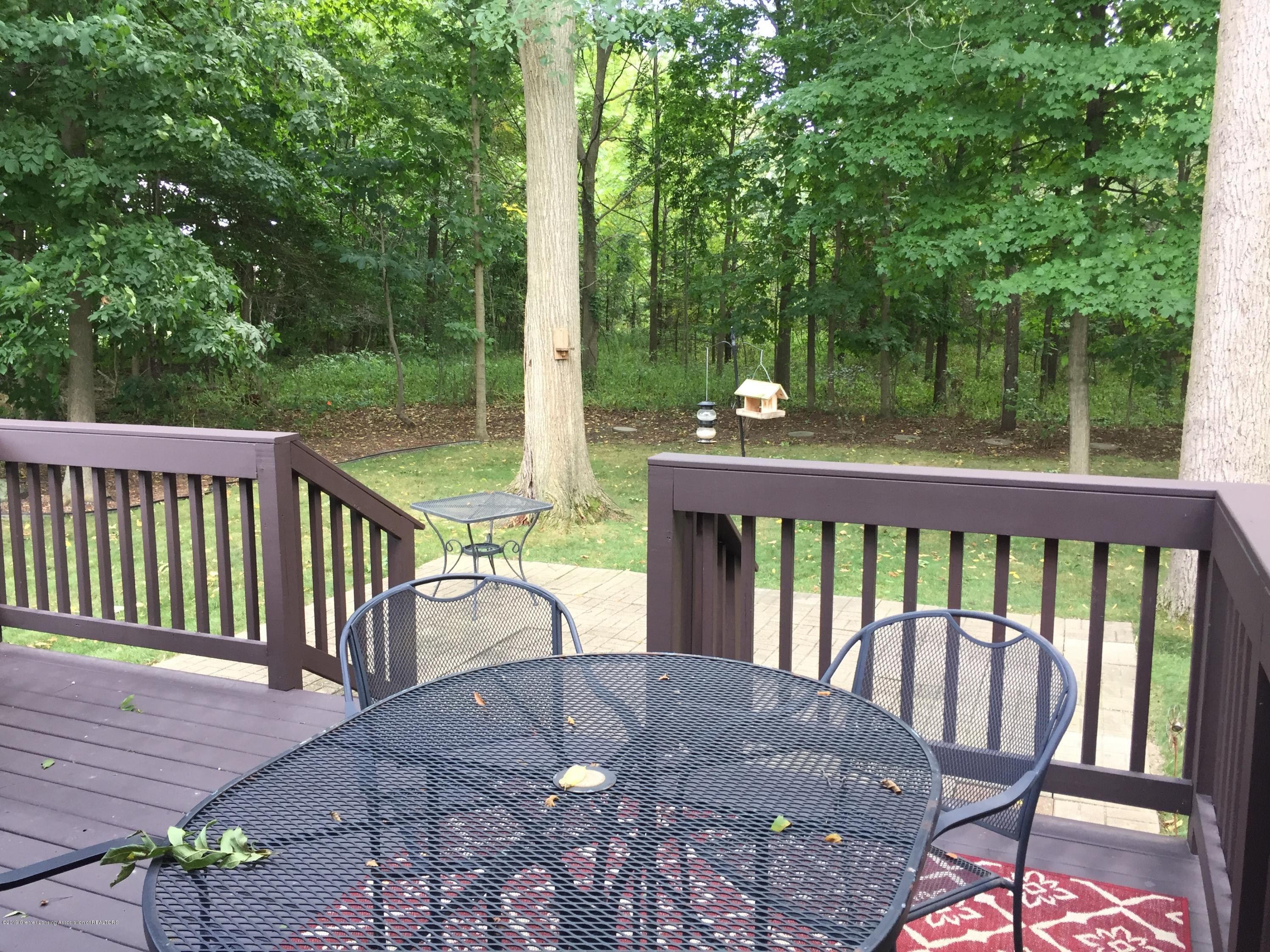 8617 Wheatdale Dr - Back Deck Overlooking Wooded Lot - 63