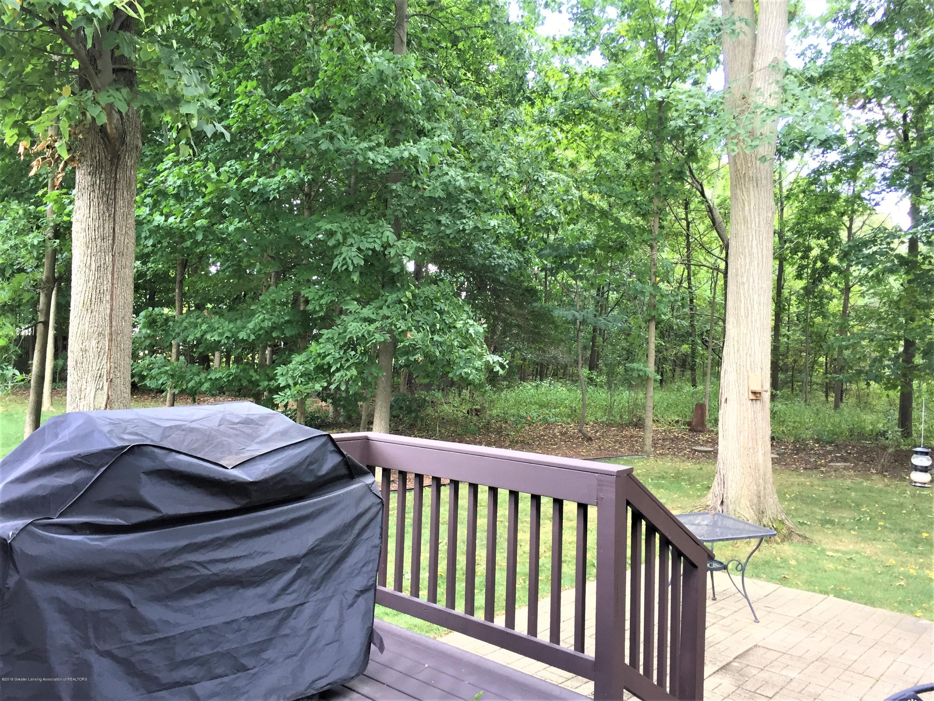 8617 Wheatdale Dr - Back Deck Overlooking Wooded Lot - 64