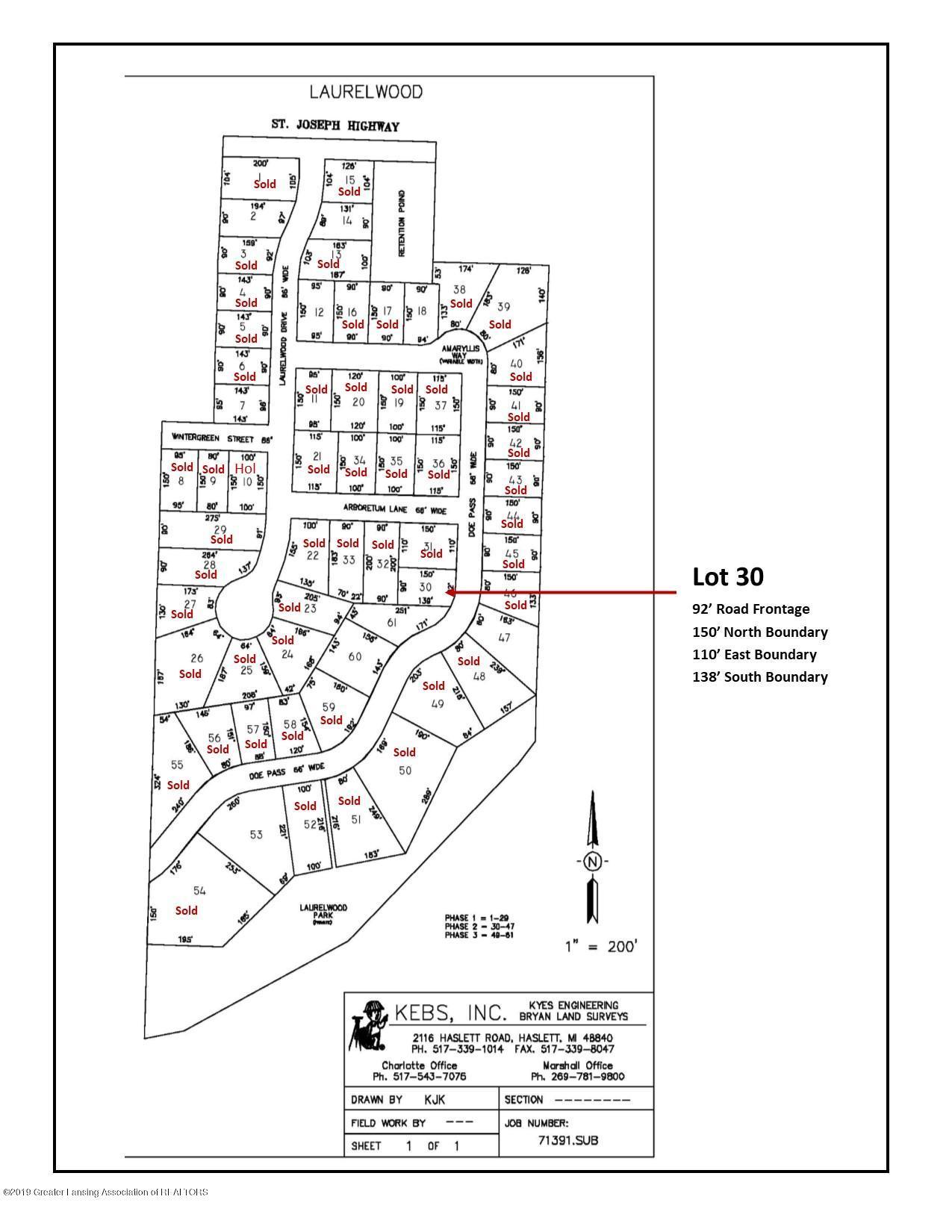 Lot 30 Doe Pass - Plat Map - 1