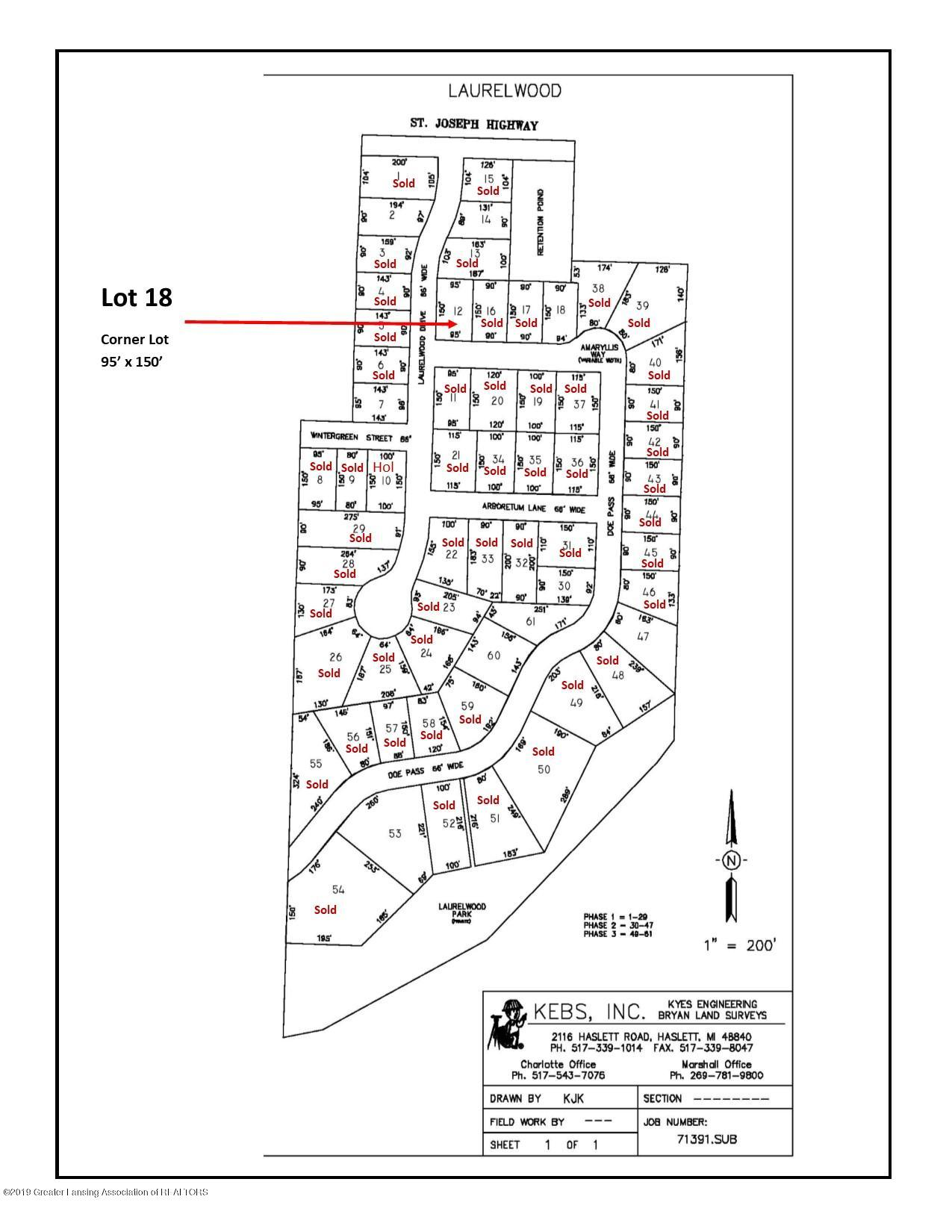 Lot 12 Amaryllis Way - Plat Map - 1
