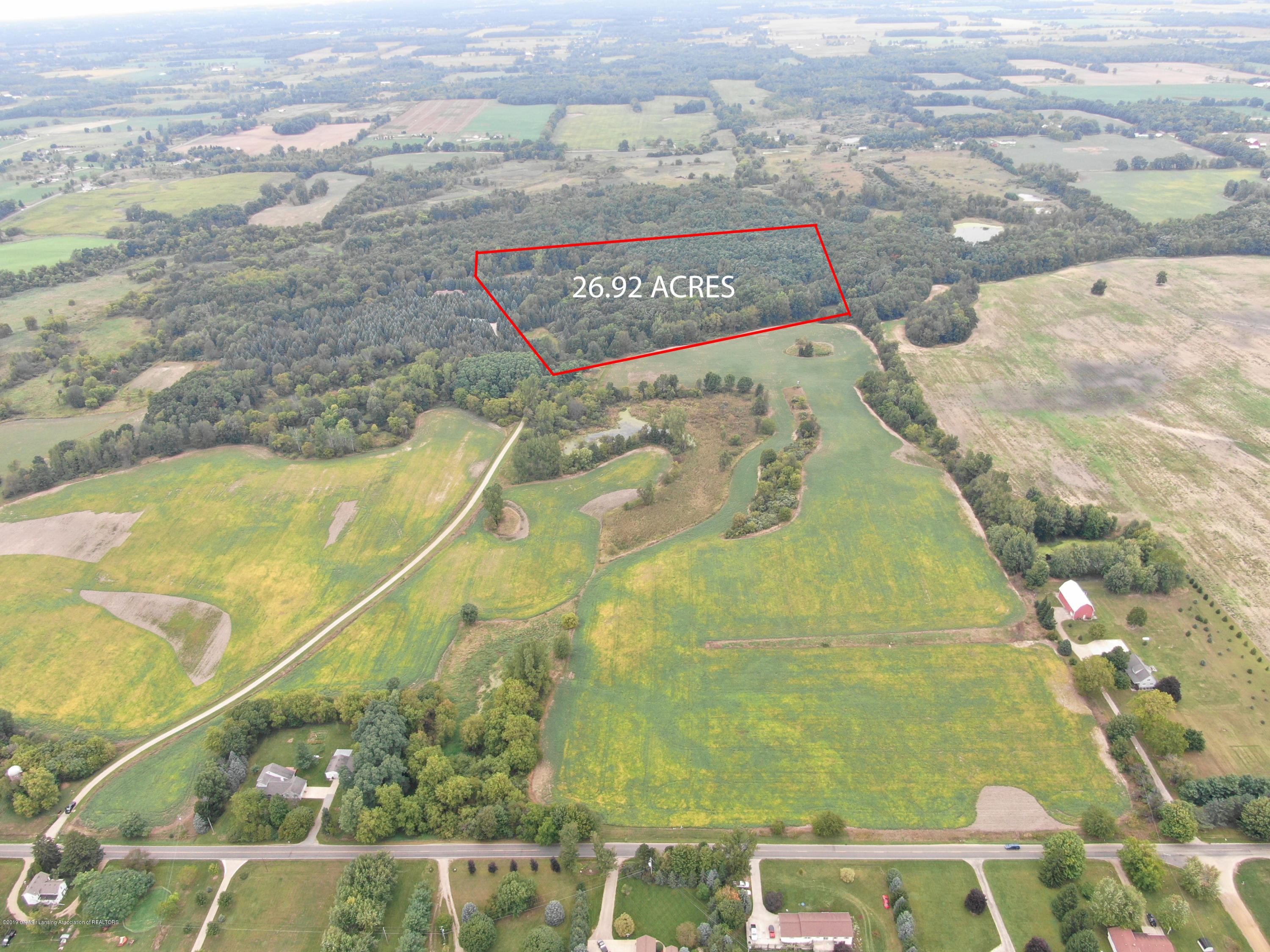8502 Doyle Rd - Plot Lines Aerial - 3