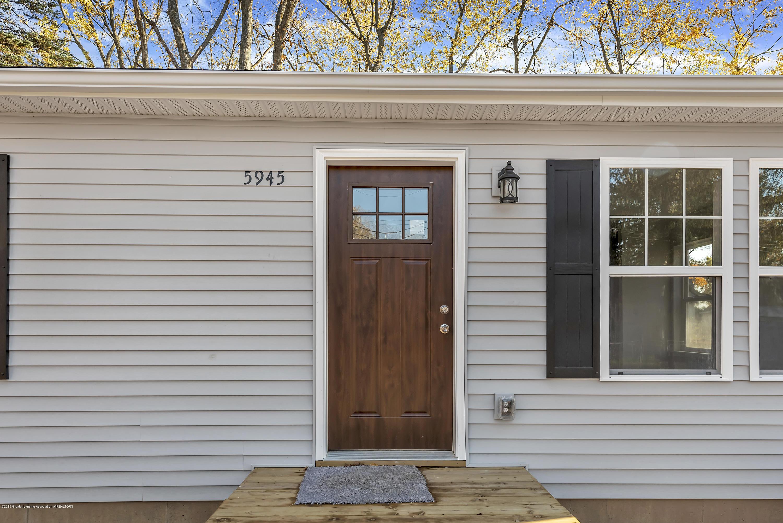5945 Selfridge Blvd - front door - 5