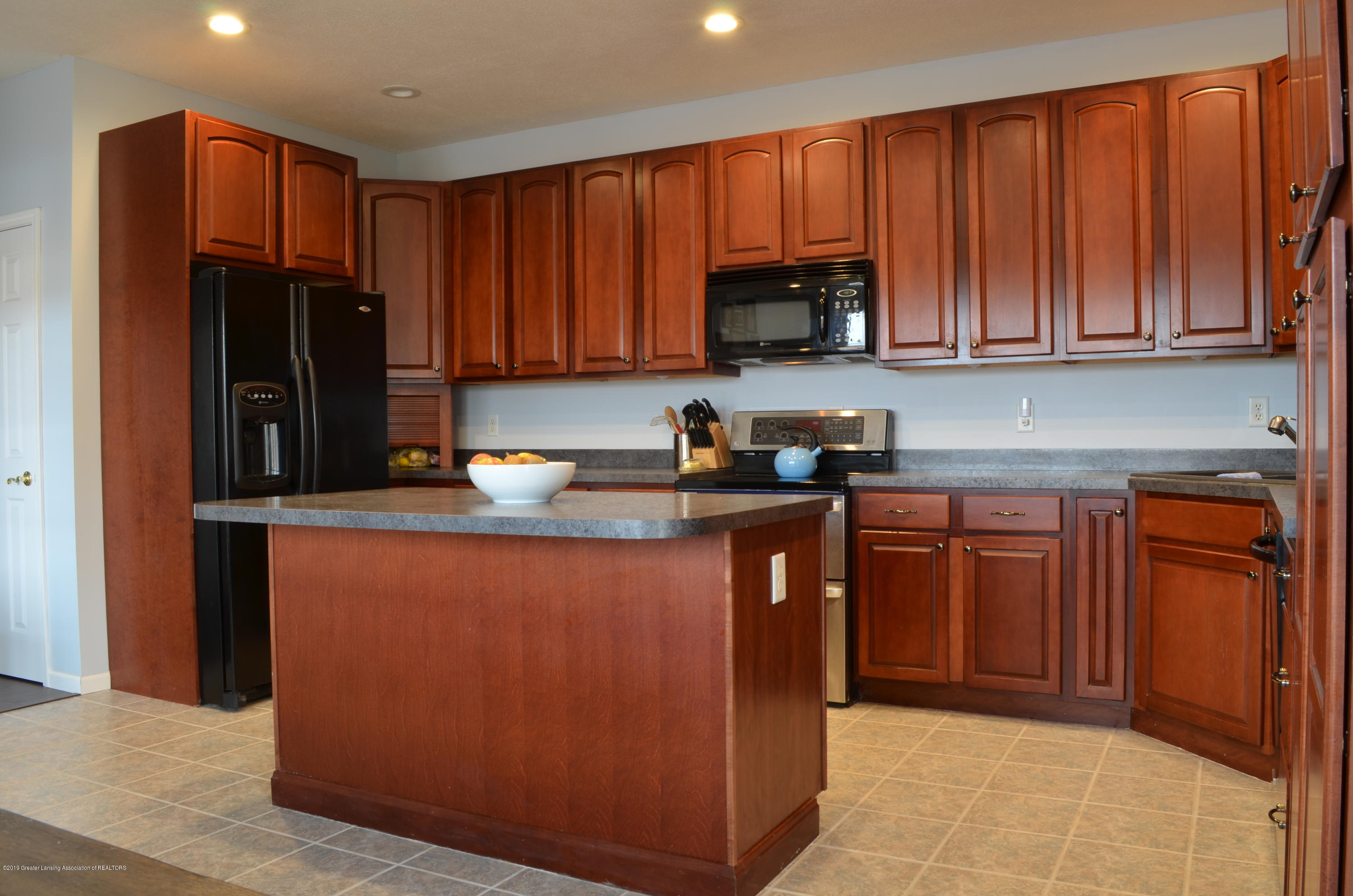 5822 Harper Rd - Kitchen with Cherry Cabinets - 6