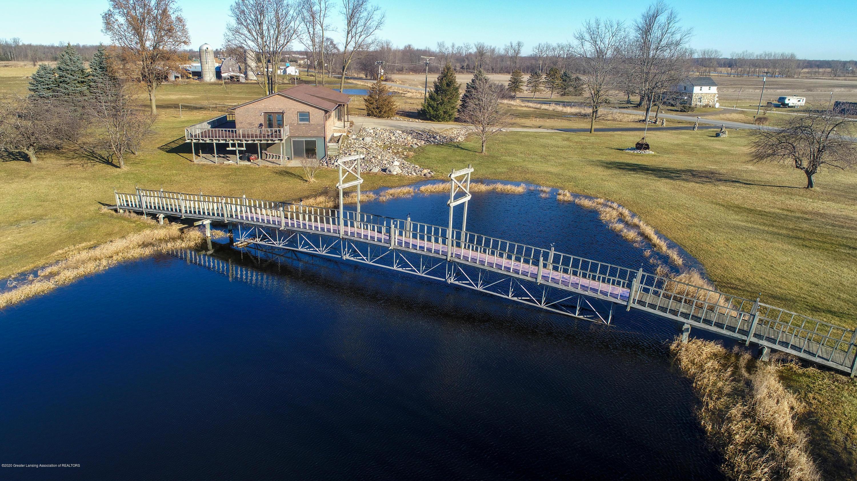 6111 S Morrice Rd - Pond with Mini Mackinac Bridge - 2