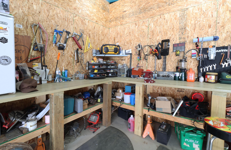 7459 Rossman Hwy - barn workbench - 7