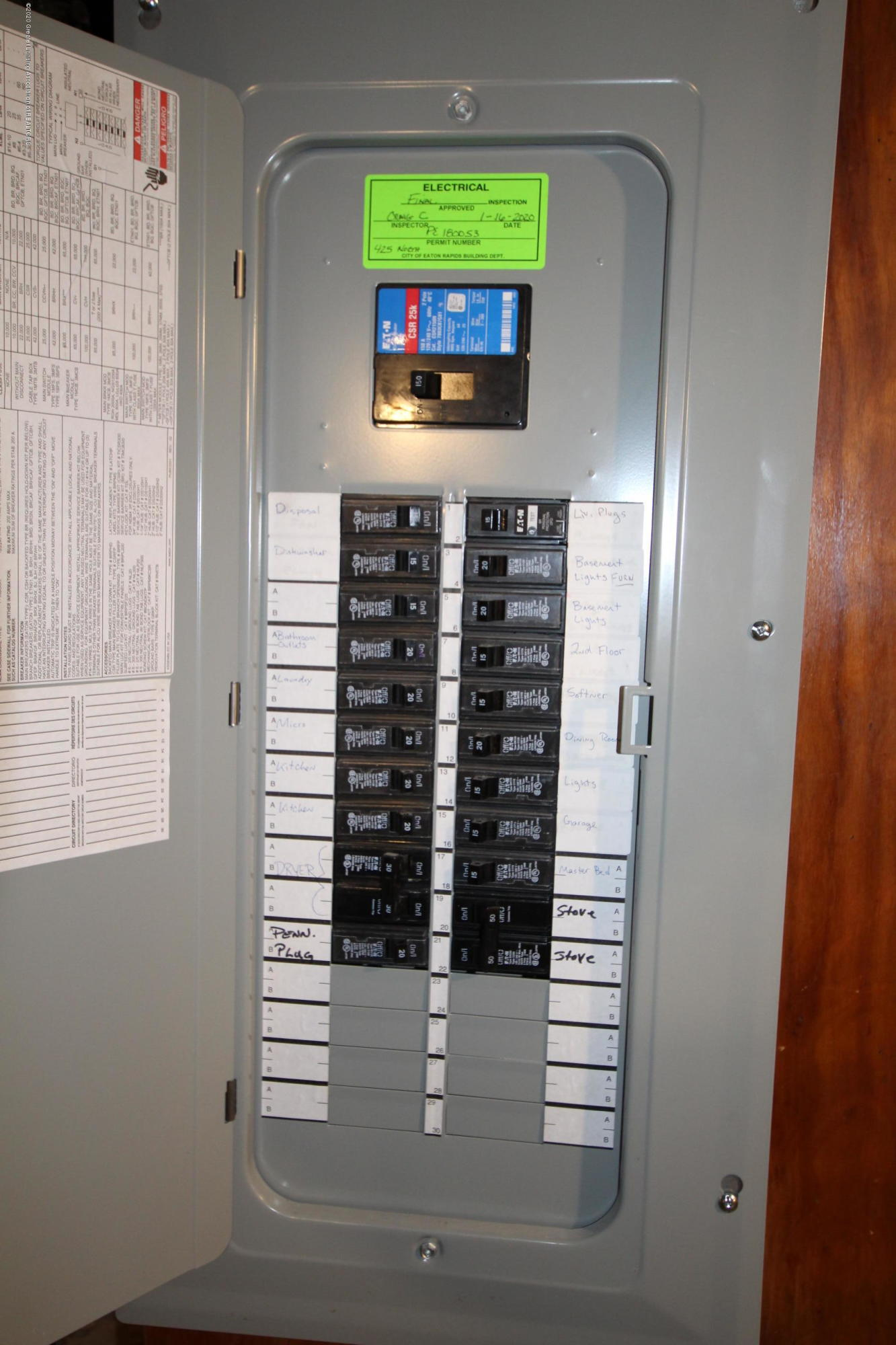 425 North St - New Electric Panel - 41