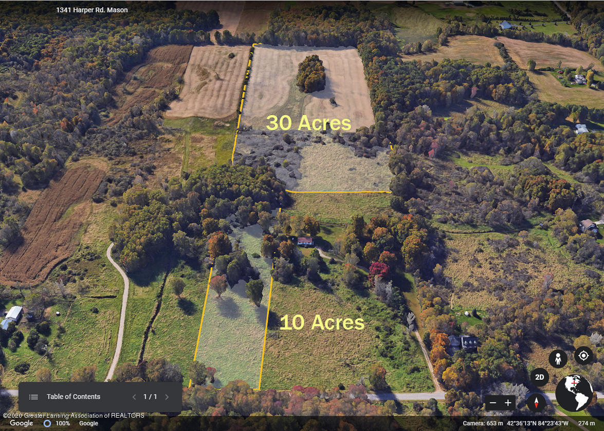 Vacant Lan Harper Rd - arial shot 10 acres  30 acres - 1
