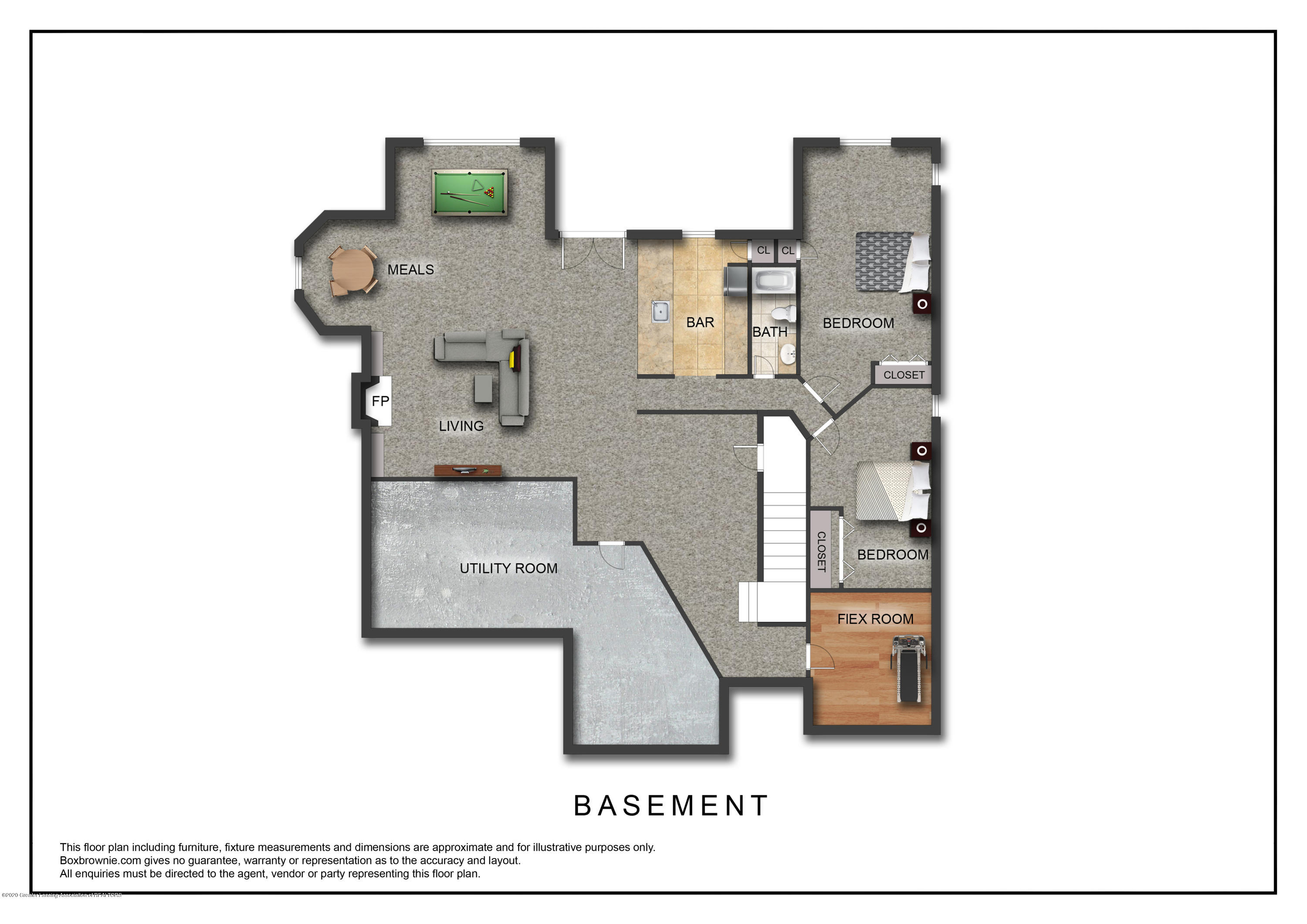 402 Shoreline Dr - Lower Level Floor Plan - 35