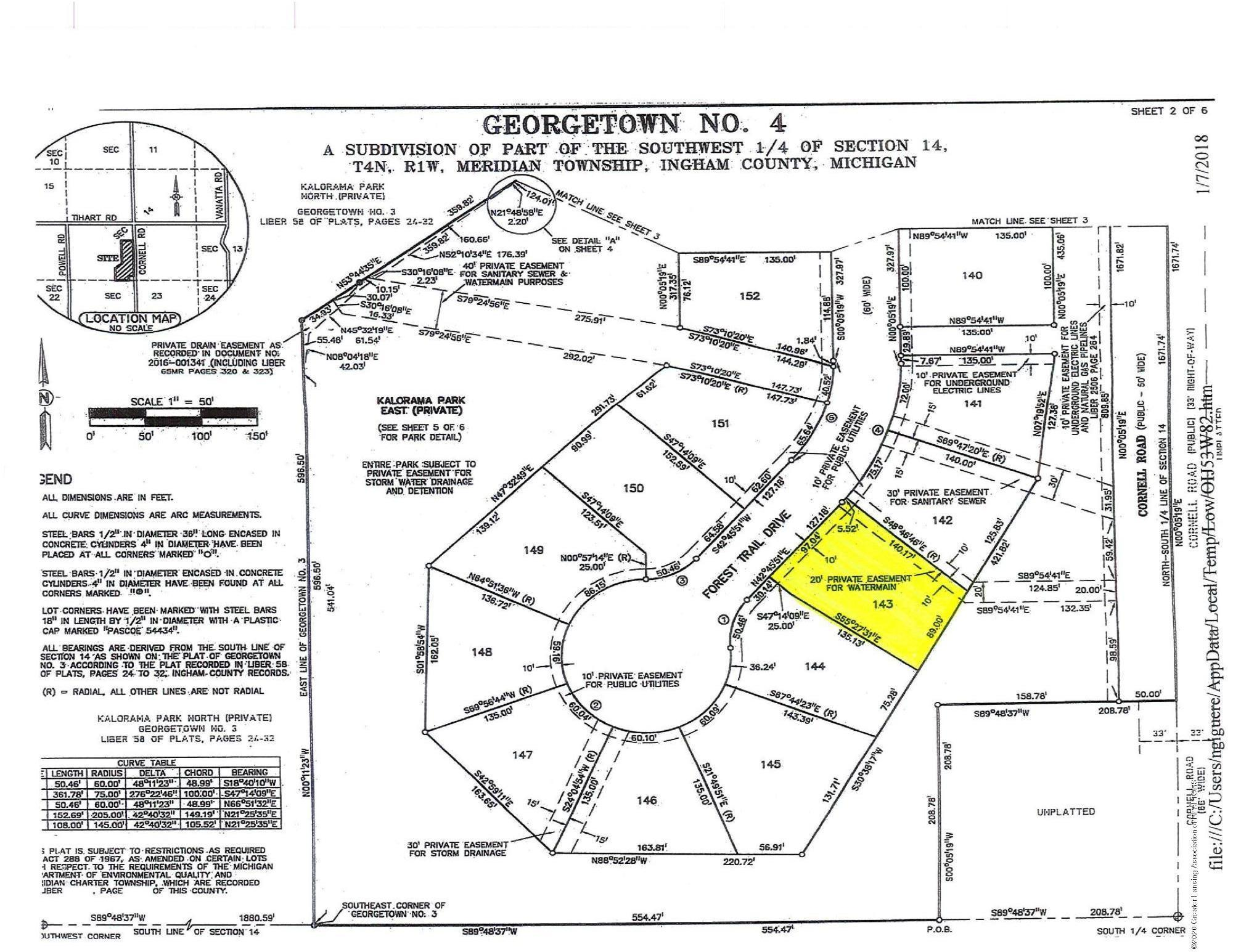 5088 Chaggal Ln - Lot 143 Site Map - 5