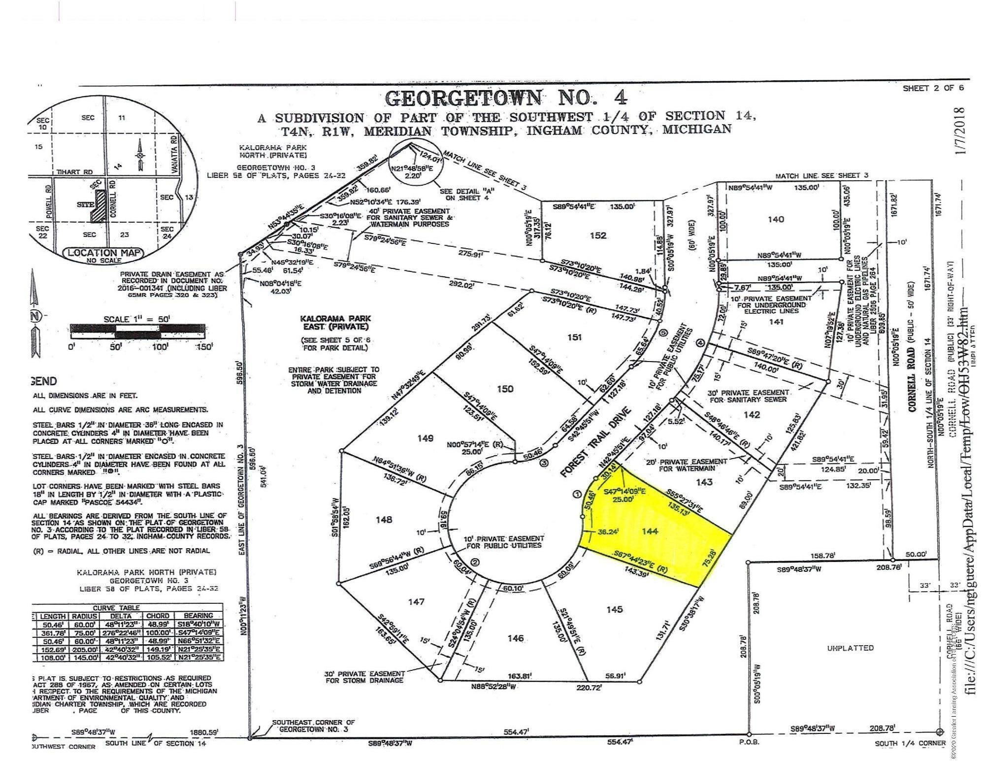 5082 Chaggal Ln - Site Map Lot 144 - 5