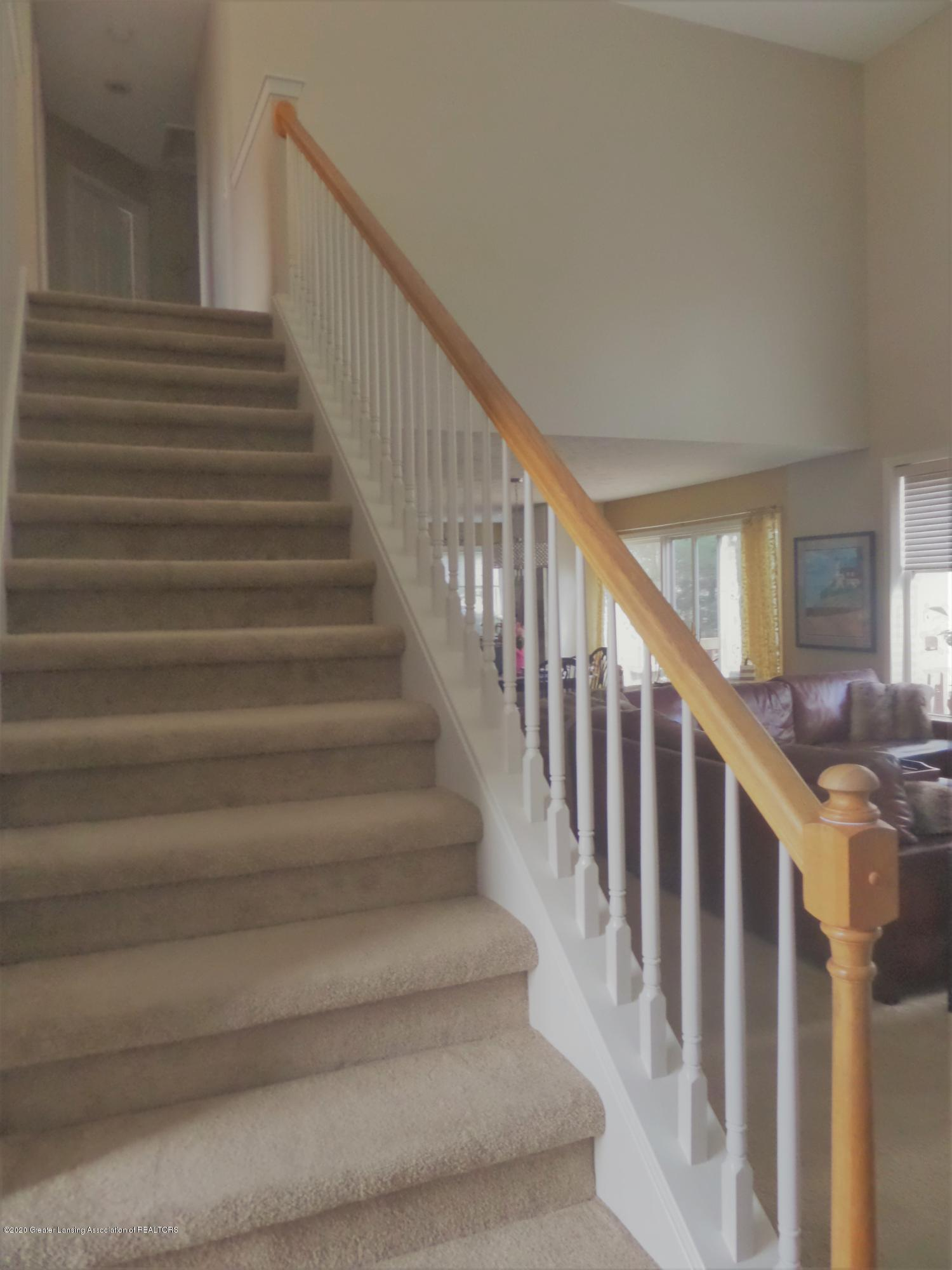 5332 Burcham Dr - Stairs overlooking living room - 18