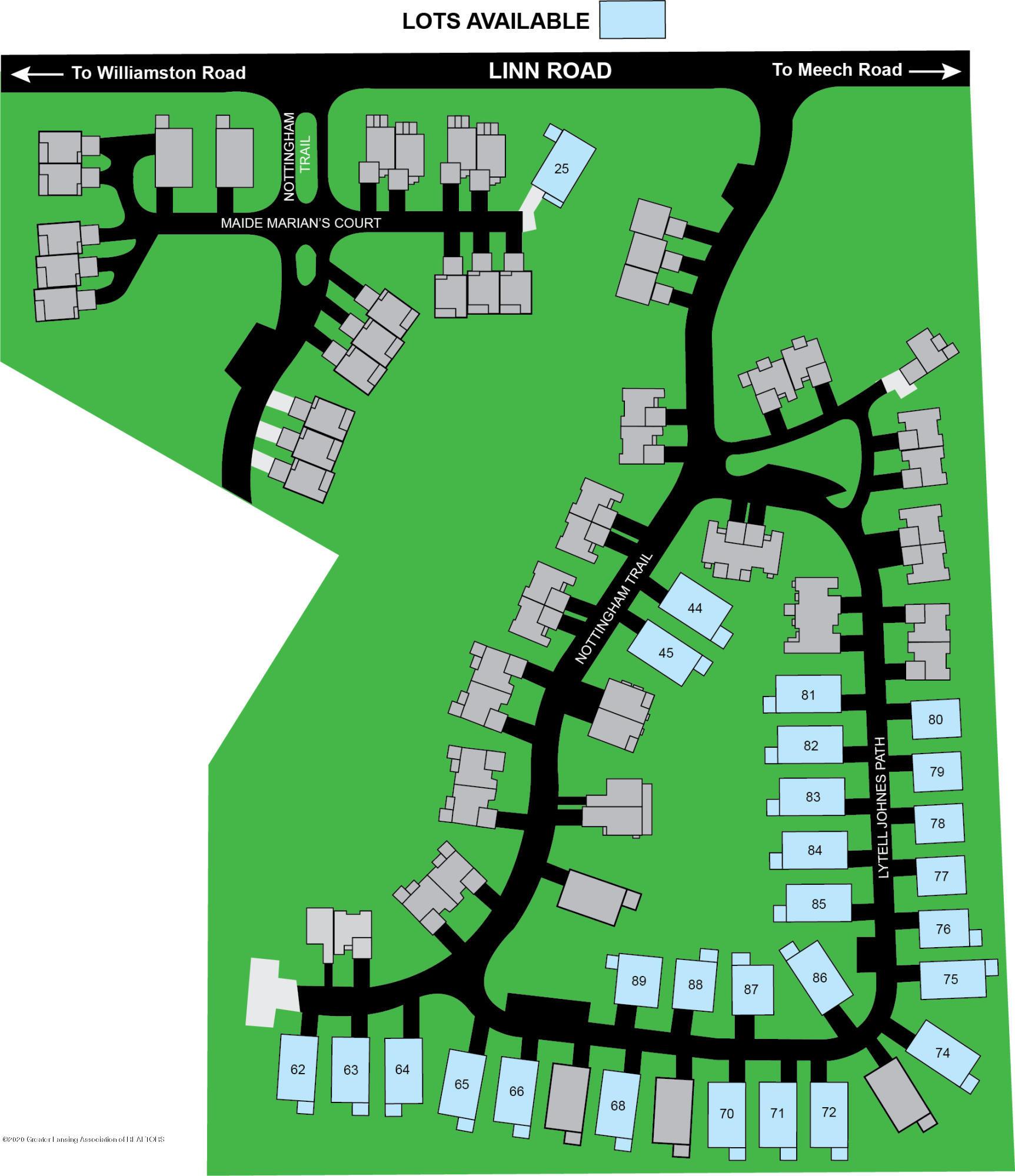 V/L Lytell Johne'S Path - Nottingham site map - 1