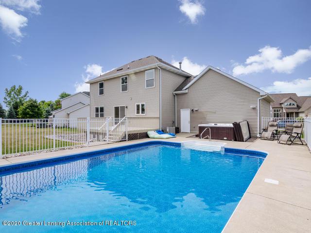 3800 Kirkland Ridge Dr - Back of house showcasing pool - 7