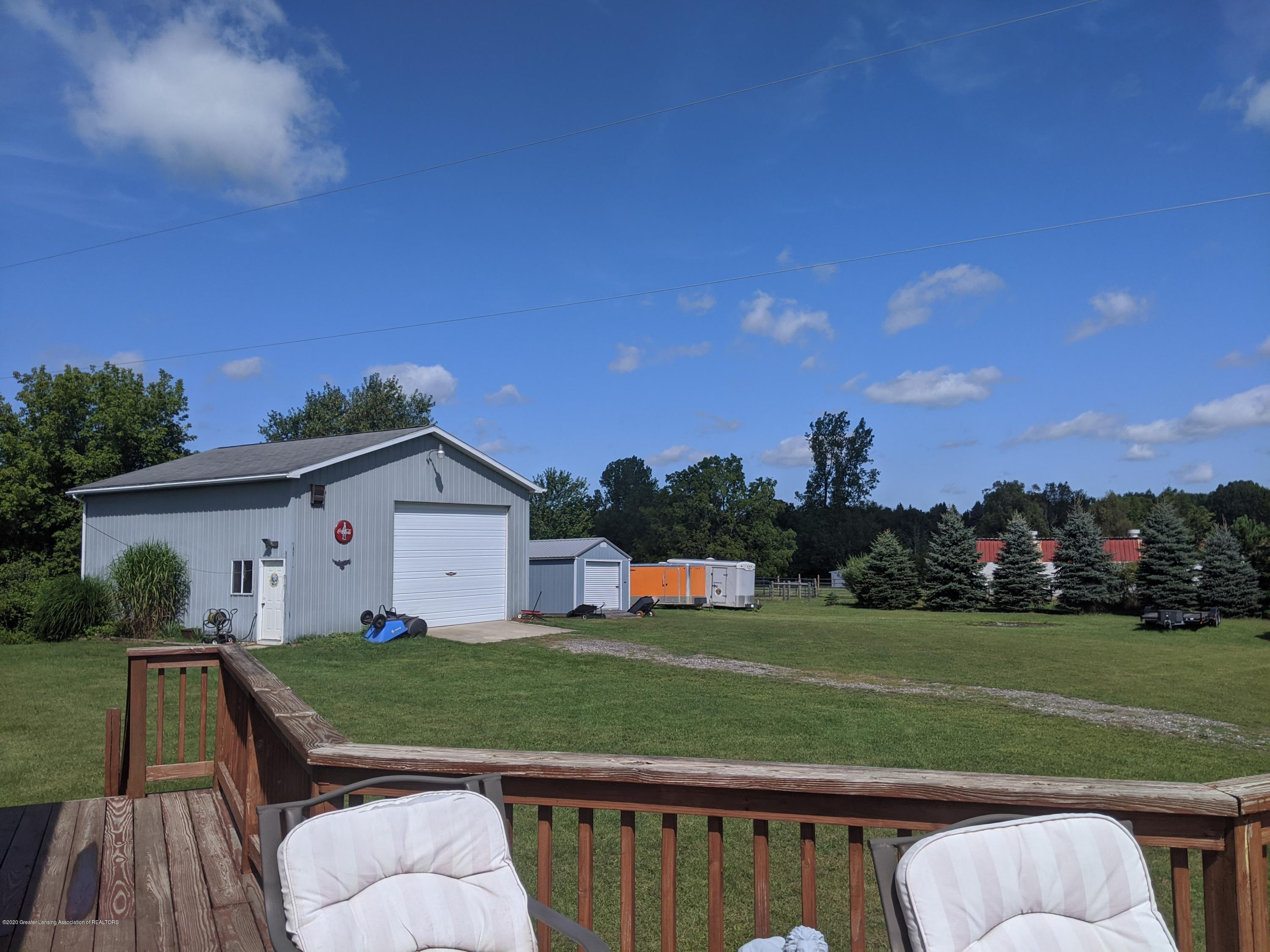 7928 Tyrrell Rd - view from deck to pole barn - 27
