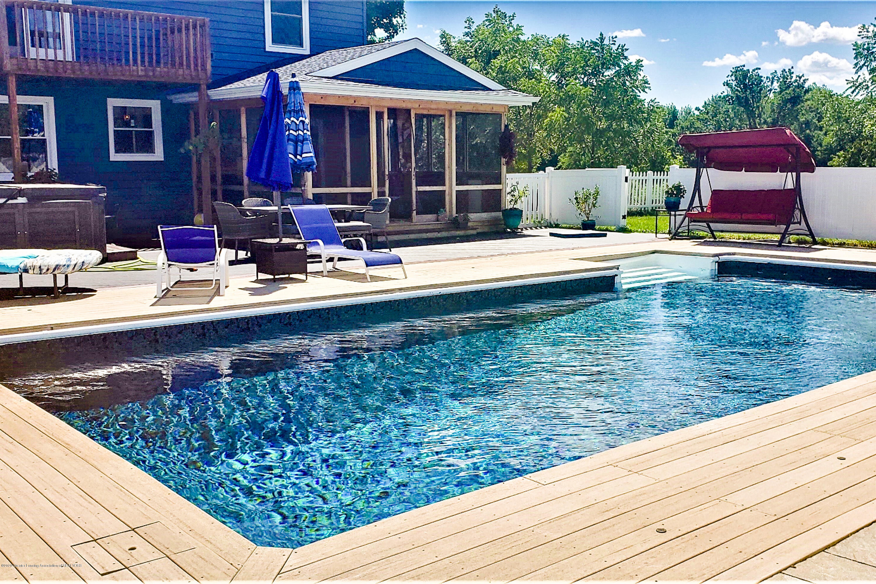 7346 W Cutler Rd - NEW POOL LINER 2020 BUTTERFLY PEARL - 24