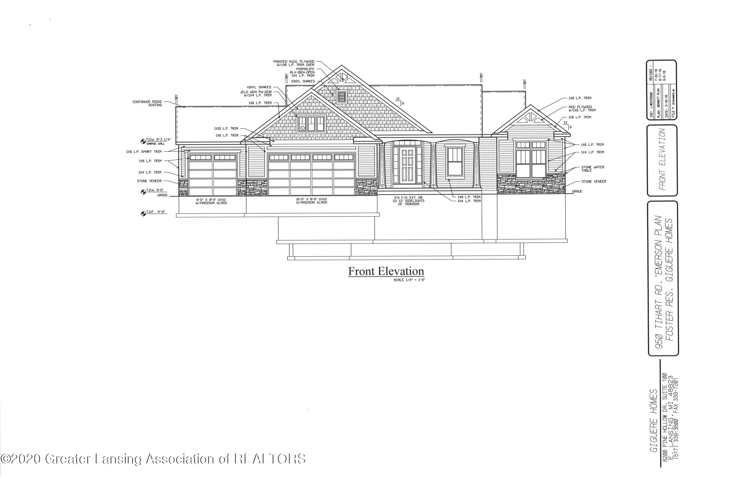 950 Tihart Rd - Front Elevation - 1