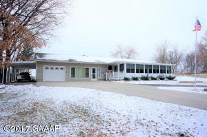View house and extra long carport and garage