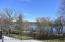 Deck overlooks a huge yard