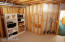 Plenty of room in the neat and clean storage / utility room.
