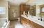 Whirlpool tub, separate shwr & dbl vanity