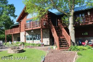 beautiful log home overlooking wonderful Lake Darling