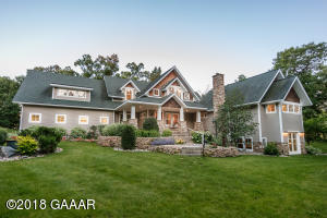 Gorgeous architectural lakefront estate only thirteen miles from Alexandria.