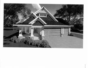 Sample of exterior - this is a plan purchased from Architectural design -- other floor plans and lots available.