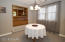 Dining room with pass thru
