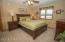 Master suite with full bath and walk in closet