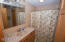Lower full bath with big linen closet!
