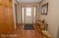 Foyer and stairs to the walk out lower level, family room, 2 bedrooms and 3/4 bath