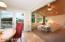 Kitchen with maple floor, deck overlooking pond & golf course