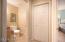 Powder room & closet on ML tiled floor