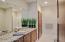 Granite vanity, tile floor