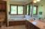 Master bath, double sink vanity, whirlpool tub, separate toilet room, corner shower