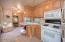 Full sized kitchen appliances.
