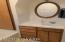 Upper level bathroom vanity