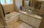 Luxurious Master Bathroom with Double Vanity and Whirlpool Tub!