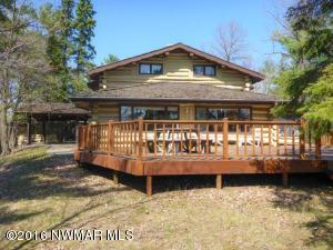 Welcome to Cyrana Lodge! Included in this Lakeshore Dream property is a 5+ car garage, Log Guest cabin near the Lodge (With basement), 2 BR Point Cabin, Laundry Building and approx. 350' of Prime Lake Beltrami Lakeshore! Great package on Fantastic lakeshore!
