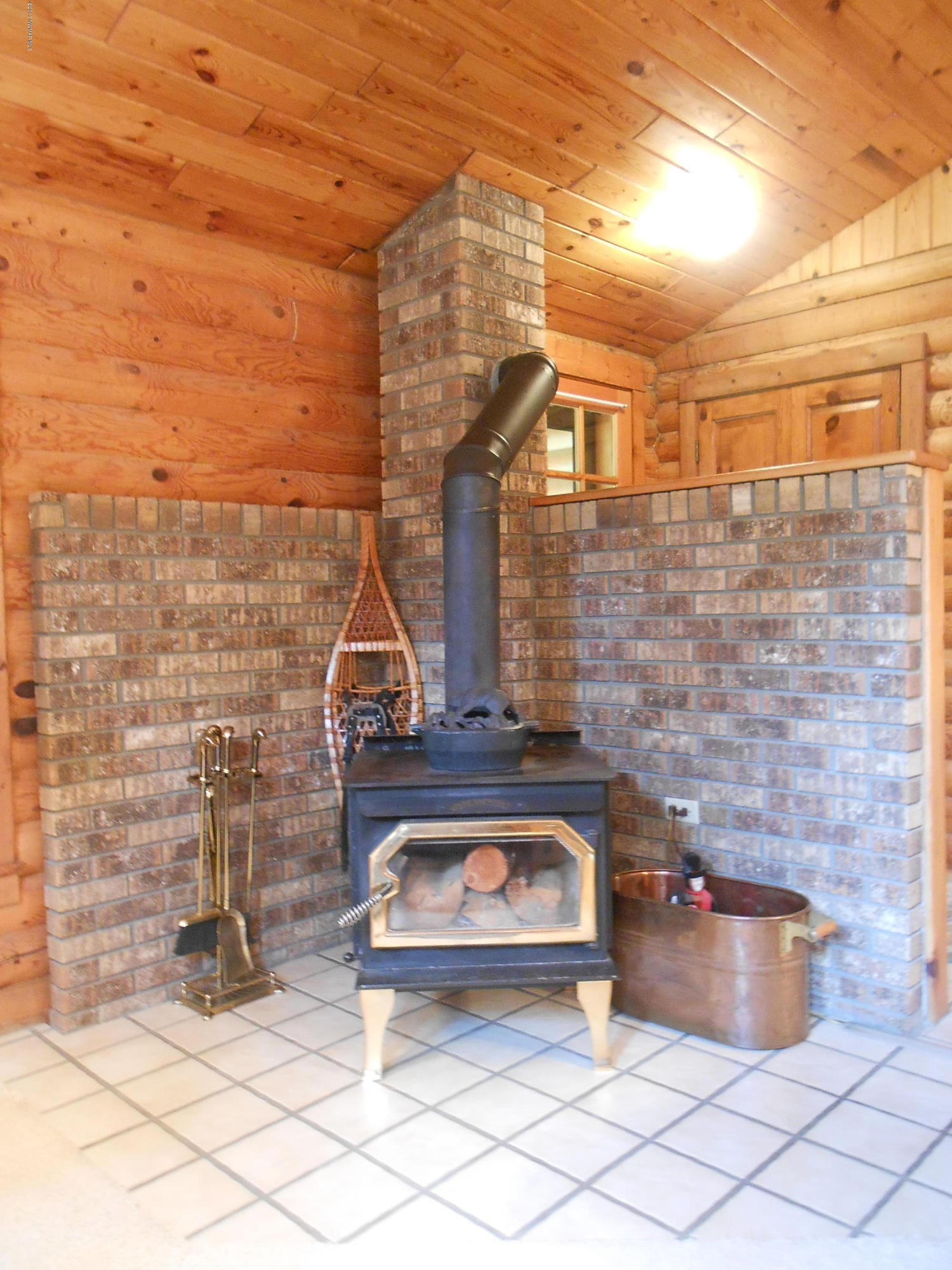 Newer wood stove to keep you warm during those chilly evenings