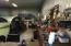 Inside heated shop