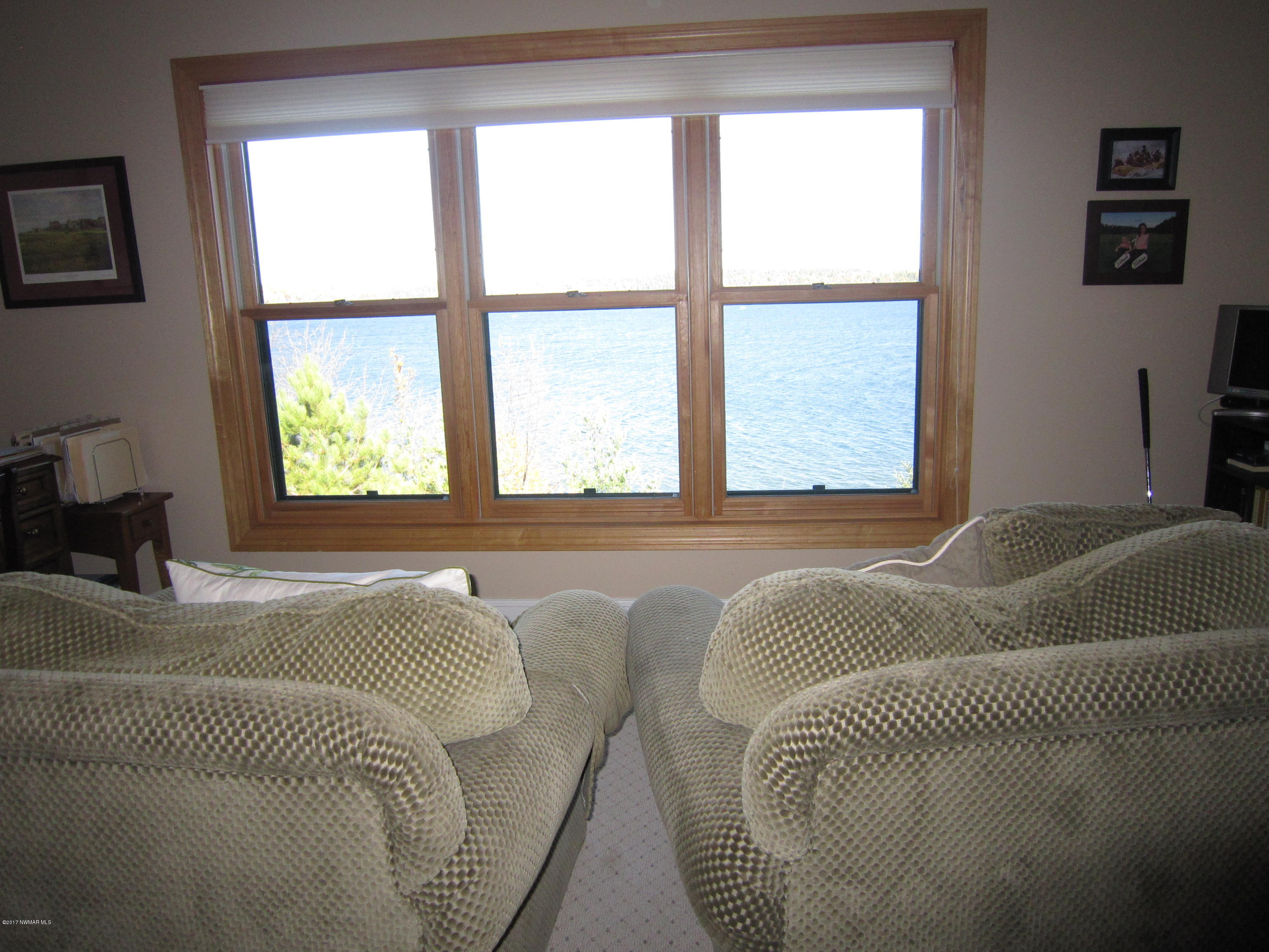 View from sitting room of lake