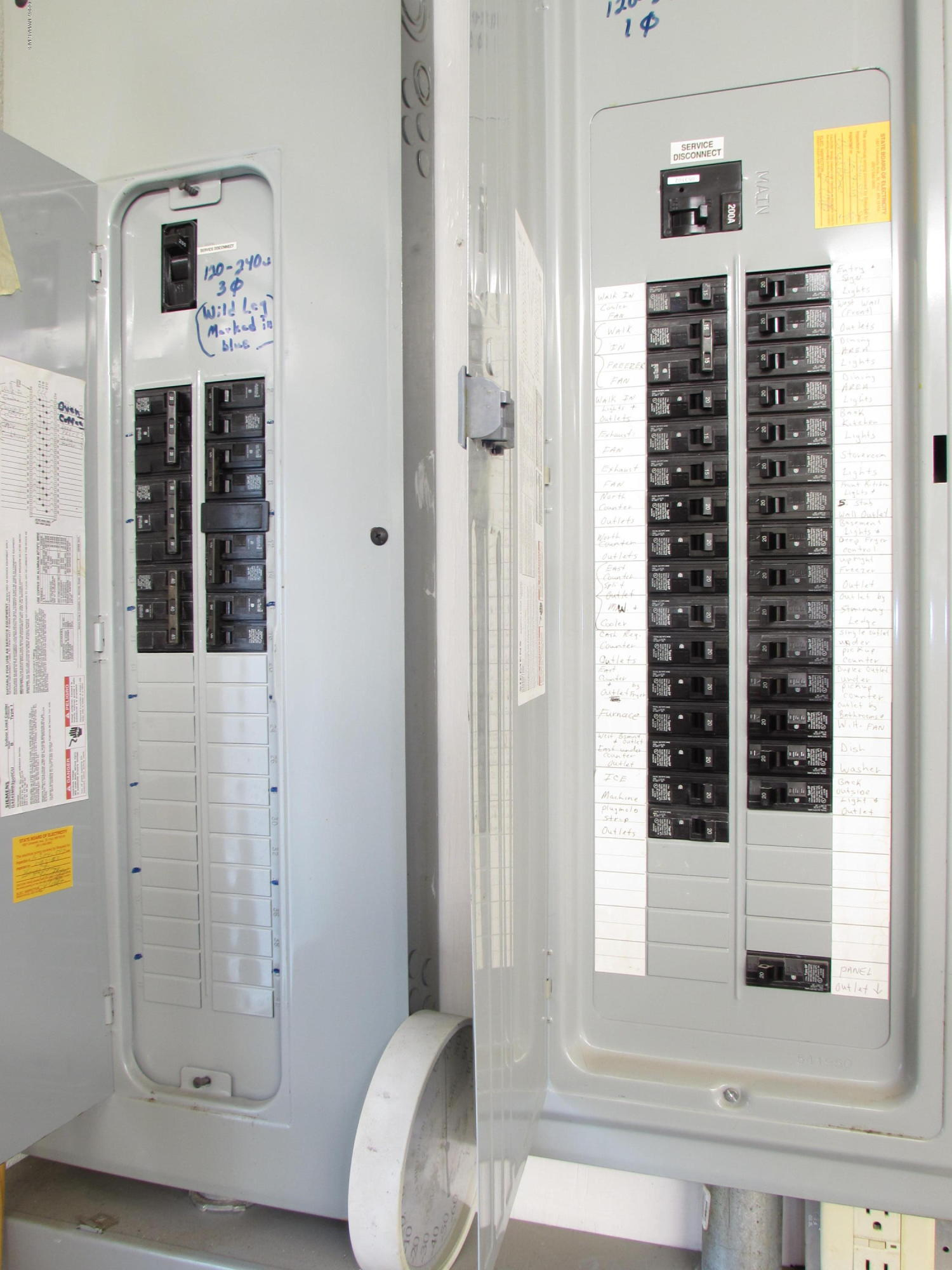 2 - 200 Amp Service Panels