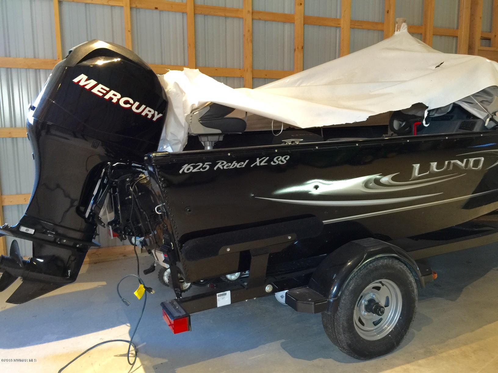 1625 Lund Rebel with 75 HP Mercury 4 stroke motor with 10 hours.