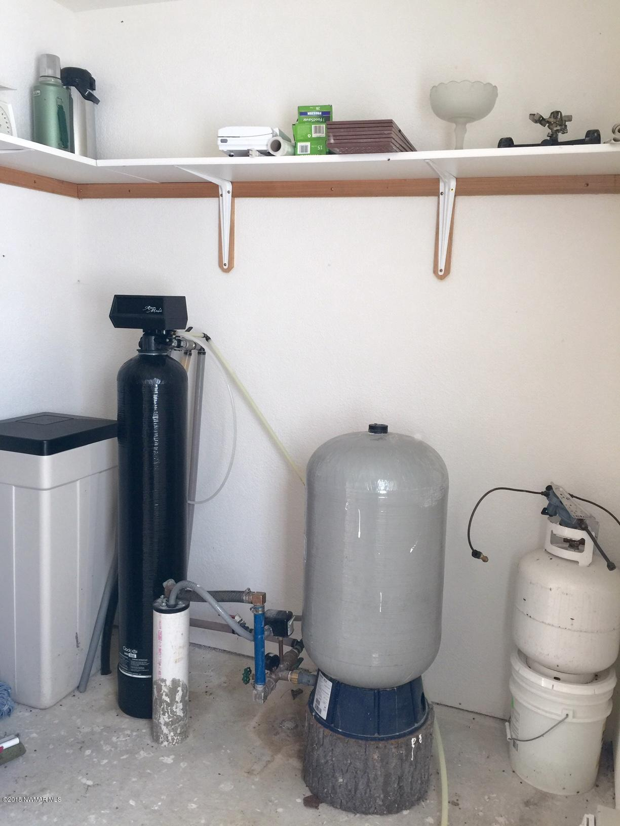Softener and pressure tank for well