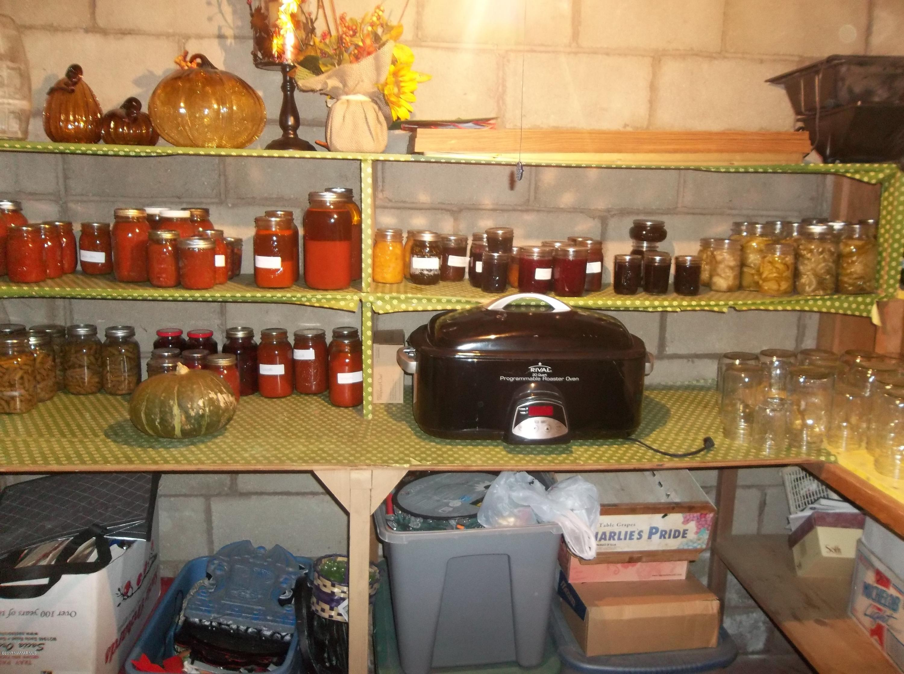 Canning room in the basement
